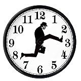 Ministerio De Silly Walks Clock, Comedy Inspirado En El Ministerio De Reloj De Pared Sinca Caminata, Divertido Reloj Silencioso Silencioso para La Decoración De La Sala De Estar, Blanco, 10'