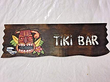 Not Branded Tiki Panneau de Surfboard Tiki Bar Home and Living Tiki Estatua Tiki Tabla de surf Bois Surf Bière Perroquet Bebidas Bord Arts and Craft 812491