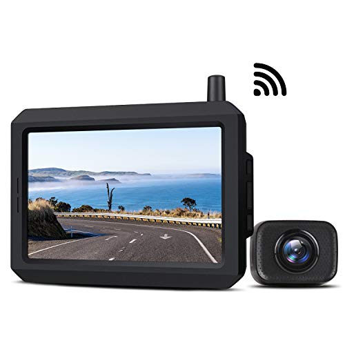 Wireless Backup Camera Kit with Digital Signal, Waterproof Rear View Camera with 5? TFT-LCD Monitor, Ideal for Sedans, Pickup Truck, SUV, Minivans ?BOSCAM K7?
