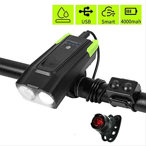 Front DEL Rechargeable USB /& Arrière Tail S//N Bike Lights Set CREE Beam MTB