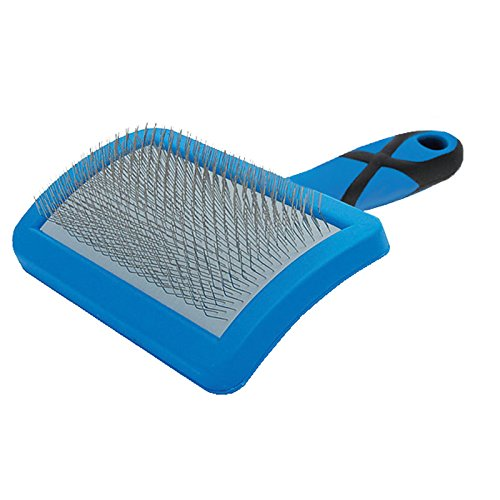 Groom Professional Curved Soft Slicker Pet Grooming Brush - Large