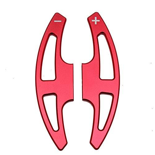 WPFC Auto-Lenkrad-Paddel-Extend Shifter Replacement, Für BMW 3Er E90 E92 E93 M3 E70 E71 X5M X6M, Aluminium-Lenkrad DSG Schaltwippen,Rot