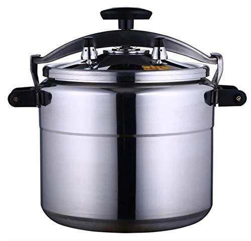 Cocina de presión de aleación de aluminio Gran capacidad disponible Multi-cocinero Cocina lenta Steamer y Wok Base de inducción de la olla rápida Cocina Cocina 3L-70L ( Color : Silver , Size : 33L )