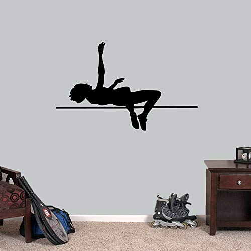 Yaonuli Wandtattoos, met hoge sprong, atletiek, sport, lopen, kinderkamer, garage, kleedruimte, verwijderbare wanddecoratie, vinyl muursticker