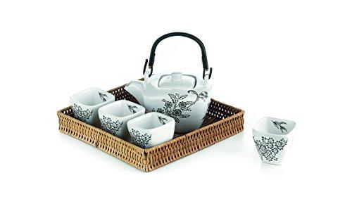 """Tee Set """"Yukiko"""" Porzellan, Kanne und 4 Cups Kanne: 0,4 l, Cup: 0,07 l"""