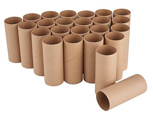 VBS Papprollen, 24 Stück, 10 cm x 4 cm, kleine Transportrollen zum Basteln für Adventskalender Papphülsen Basic-Artikel