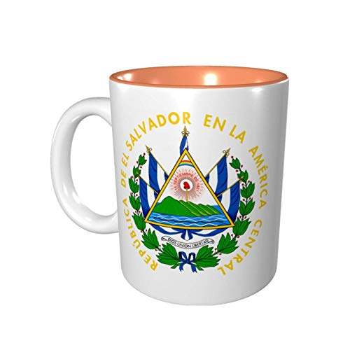 Yuanmeiju Coat of Arms of El Salvador Taza de color Porcelain Cup Mug 330ml Ceramics Home Use Office Environmental Protection