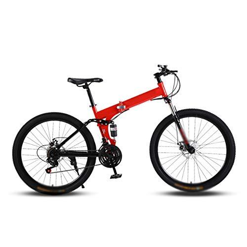 JTYX Bicicleta de montaña Plegable para Adultos Bicicleta Plegable de Velocidad Variable para niños Bicicletas de Carretera para Hombres y Mujeres, 24 Pulgadas