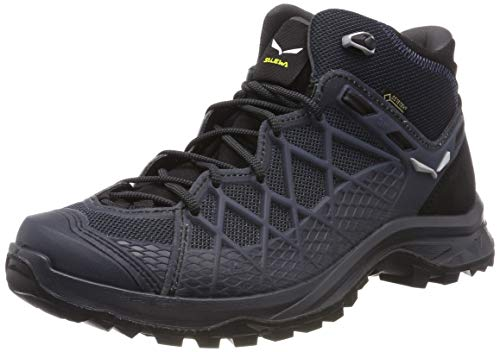 Salewa Men's High Rise Hiking Boots, Black Out Silver, 10.5
