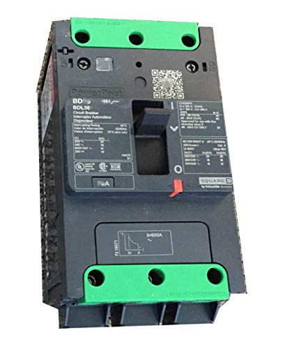 BDL36080-Thermal Magnetic Circuit Breaker, MCCB, PowerPact B-Frame Series, 240 V, 80 A, 3 Pole