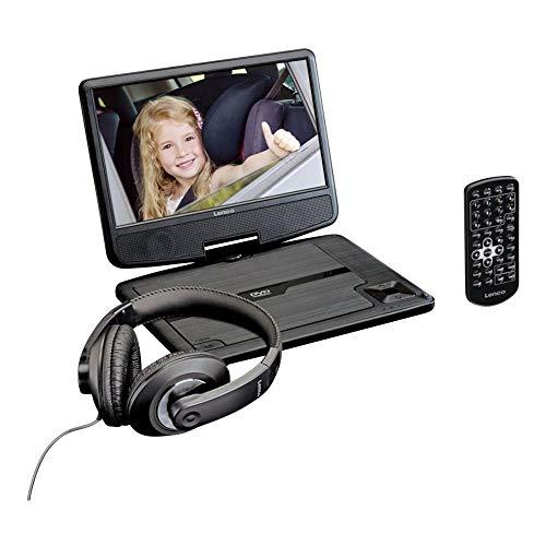 """Lenco DVP-911 9"""" Noir - Lecteurs DVD/Blu-Ray portables (Noir, NTSC,PAL, 22,9 cm (9""""), TFT, 16:9, 3,5 mm)"""