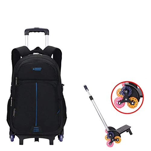Rosenryan Kids Wheeled Rugzak, Kinderwagen School Bag Jongens Meisjes Rolling Rugzak (6 wielen)