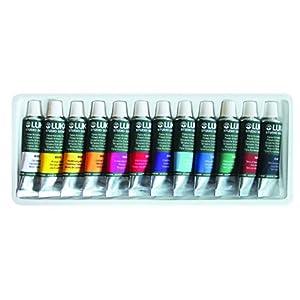 LUKAS Designers Gouache Paint Intro Watercolor [Set of 12] 12ml Tubes, Assorted Colors