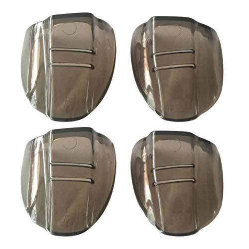 Artibetter 2 Paar Veiligheidsbril Zijschermen Slip Op Zijschermen Voor Veiligheidsbril Flexibele Heldere Universele Oogbescherming (Donkerbruin)