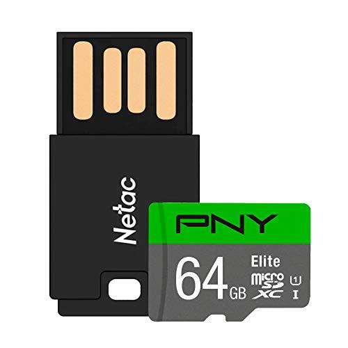 Cartão Memória Micro Elite 100MBs PNY e Adaptador USB (64GB)