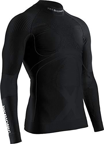 X-Bionic Energy Accumulator 4.0 Turtle Neck Long Sleeves, Strato Base Camicia Funzionale Uomo, Black/Black, 2XL