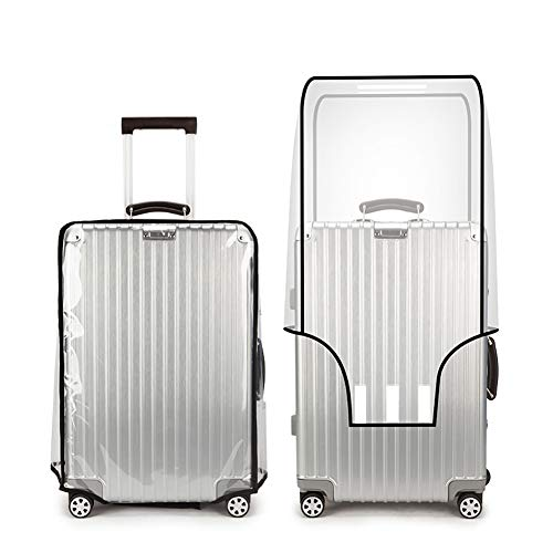 LERTREE Transparent PVC Luggage Cover Waterproof Trolley Suitcase Protective Cover Travel Case (24inch)