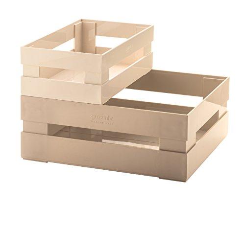 Guzzini Set 2 Cassette Kitchen Active Design, Argilla, 30.5 x 22.5 x h19.5 cm