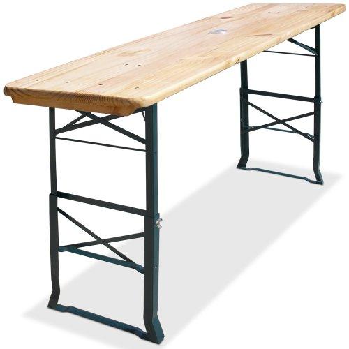 Deuba Bierzelttisch Stehtisch 170cm Höhenverstellbar Sonnenschirmhalter Klappbar Hoch Partytisch Biertisch Tisch Holz