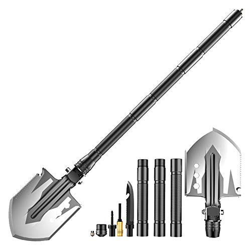XINCHENYU Military Folding Shovel [76 cm Length] with MOLLE Pouch -...