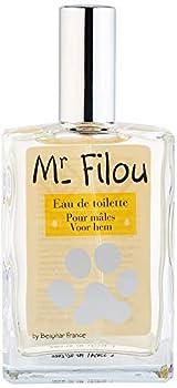 BEAPHAR – Mr Filou eau de toilette pour chien – Parfum pour mâle – Respecte le pelage – Dépose une odeur délicate sur la fourrure du chien – Sublime la beauté des animaux – Flacon 50 ml