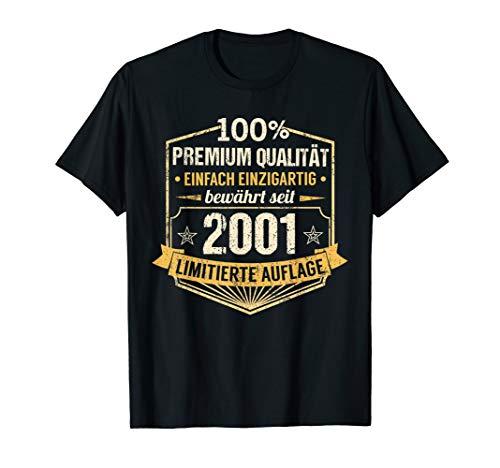 19. Geburtstag Mann Frau 19 Jahre Jahrgang 2001 Geschenk T-Shirt