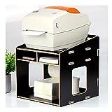 Soporte para impresora de escritorio Estera de almacenamiento multifuncional de escritorio 3 Capa Impresora de código de barras Oficina de oficina Máquina de escritorio Equipo de fax 24 × 26 × 26.5cm
