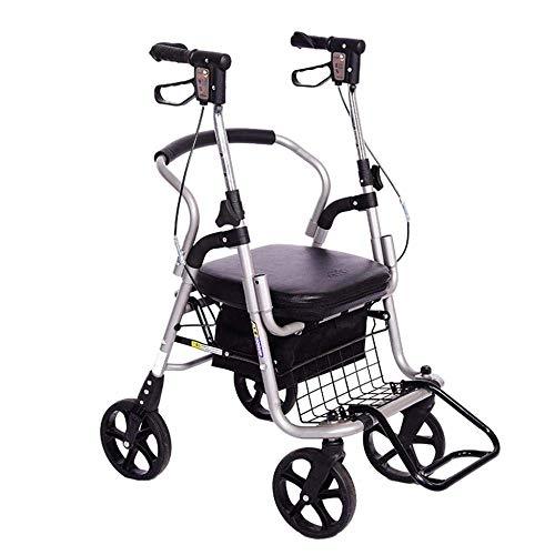 DEED Multifunktions-Einkaufswagen, Aufbewahrungsbox Für Die Küche Alter Mann, Reisemobilitätshilfen Können Einen Zusammenklappbaren Rollstuhl Mitnehmen Tragbarer Einkaufswagen Geschenk Kann 100-Kg-Hi