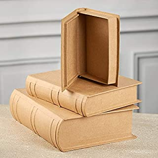 Factory Direct Craft Paper Mache Book Box Set   Set of 3