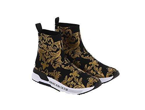 VERSACE Jeans Couture - Zapatillas deportivas para mujer, color negro, E0VWASA471934, M27 Size: 37 EU