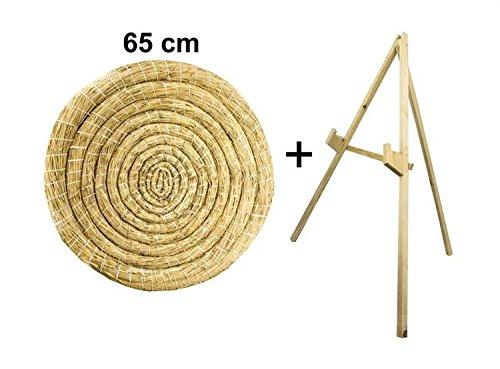 Diana de paja redonda de 65 cm con soporte