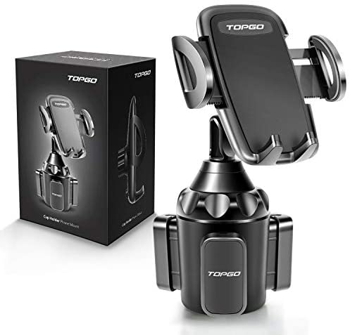 Read more about the article [Upgraded] Car Cup Holder Phone Mount Adjustable Automobile Cup Holder Smart Phone Cradle Car Mount for iPhone 12 Pro Max/XR/XS/X/11/8/7 Plus/6s/Samsung S20 Ultra/Note 10/S8 Plus/S7 Edge(Black)