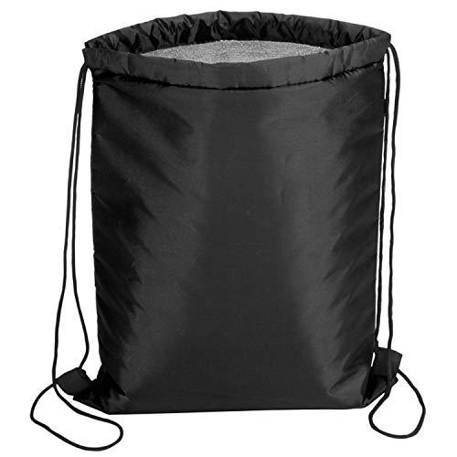 PreiswertGut Kühltasche ca. 32 x 42cm Kühlrucksack mit Tragekordeln Farbe (schwarz)