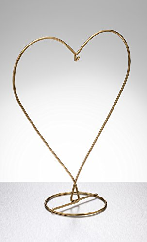 Sienna Glass Gold Heart Shaped Display Stand