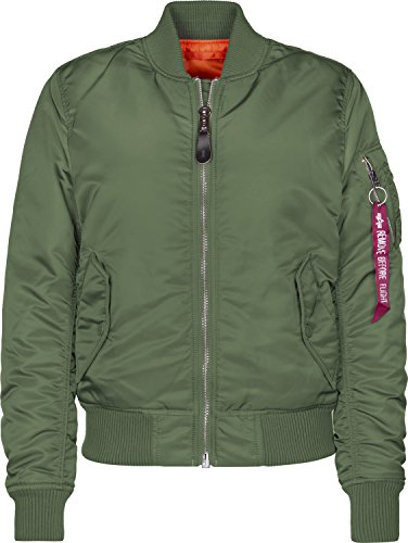 Alpha Industries Damen Bomberjacke MA-1 SF Wmn (M, Sage-Green)