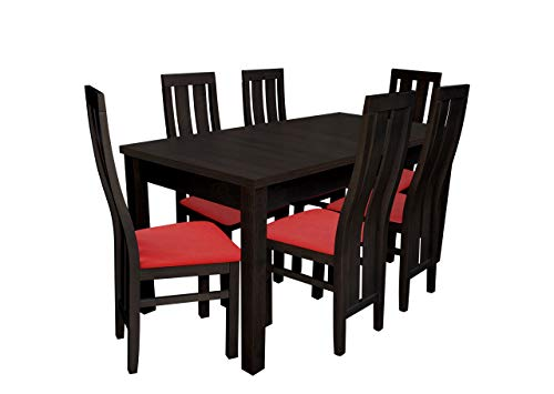 Mirjan24 Esstisch Stuhl Set RB23 Essgruppe, Tischgruppe, Sitzgruppe Esstischgruppe, Esszimmergarnitur (Nuss, Soft 010)