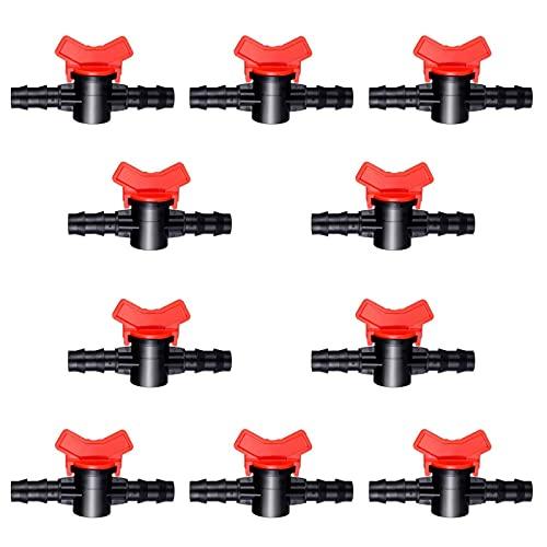 KYYKA 10 piezas de riego por goteo de 16 mm, 1/2 pulgadas, para riego por goteo, válvula de cierre, piezas de riego por goteo