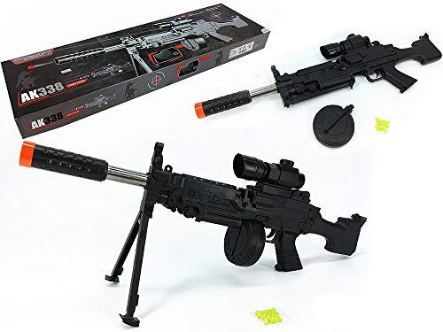 Fedele riproduzione di un fucile d'assalto Ak-338 con puntatore laser L'infallibile arma da combattimento delle truppe da sbarco Plastica di ottima fattura. Dimensioni h18x60x5,5 cm Ideale anche per travestimenti di Carnevale