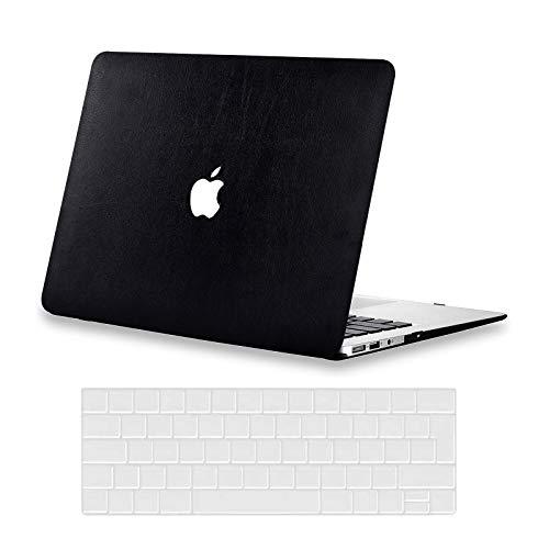 """AUSMIX Custodia per MacBook Pro 13 pollici 2020 Copertura M1 A2338 A2251 A2289 A2159 A1989 A1706 A1708 Custodia Premium Pelle Custodia rigida e Cover per tastiera per Mac Pro 13"""", Nero"""
