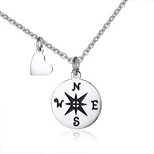 Halskette Kompass Halsketten Für Best Friend Geschenk Edelstahl Kleine Zierliche Anhänger Halskette Für Frau