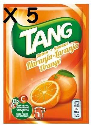 Cmagic® - 5 bolsas de 30 g de polvos Tang de naranja para 5litros de bebida, con vitaminas A, B2y C, y ácido fólico
