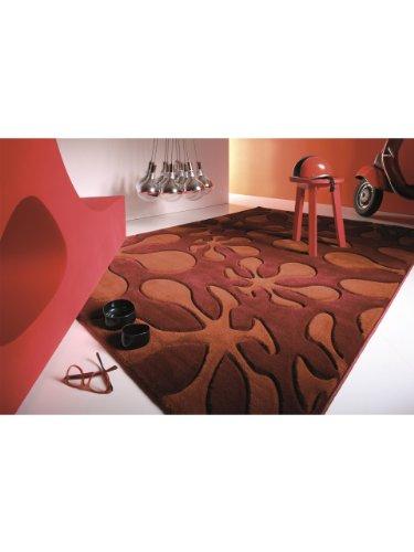 Lars Contzen Teppiche: Moderner Designer Teppich Le Pop Rot 80x150 cm - schadstofffrei - 100% Polypropylen - Abstrakt - Maschinengewebt - Wohnzimmer