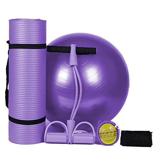Boxx 80 Centimetri Antiscivolo Vestito di Yoga Palla Mat allargando Yoga Yoga Ispessimento supina Petto (Color : Purple)