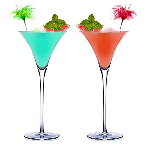 WANGIRL 2 Piezas Copas Cocktail Cristal Reutilizable Copas de Cóctel Martini Margarita 140/260 ML para Uso en Casa Restaurante y en Fiestas Bar Centros de Mesa (Color : A 140ML)