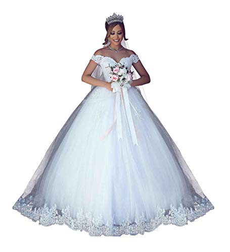 Ball Gown Wedding Dress With Off the Shoulder