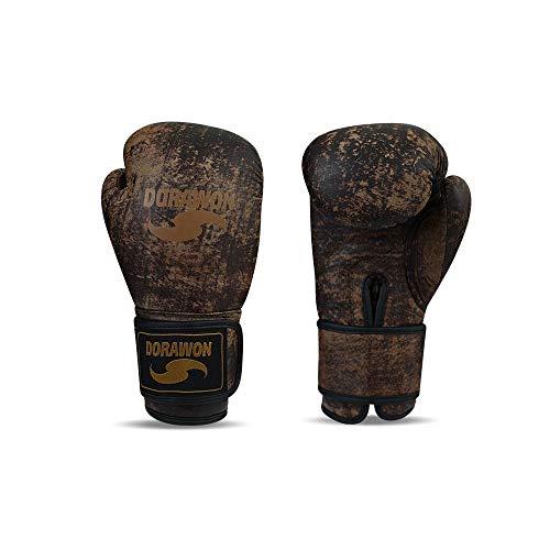 Dorawon Vintage Boxhandschuhe aus Leder, Unisex, Erwachsene, Braun, 12 oz