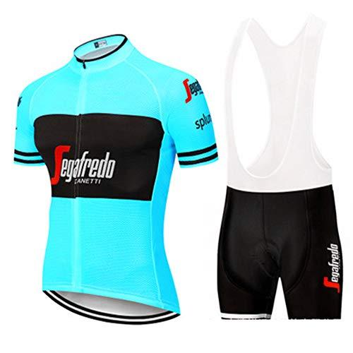 YDJGY Conjunto Manga Corta Ciclismo Jersey,Set Ropa Bicicleta MontañA Transpirable Secado RáPido...