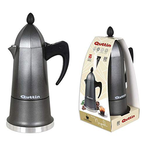 Quttin S2202080 Cafetera, 18/8 Stainless Steel