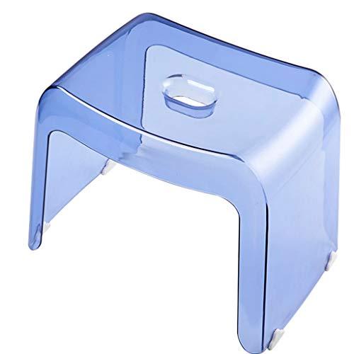 ZXW Tabouret- Épaissir un banc pour adulte, banc de chaussures de mode, chaussures de création (Couleur : Bleu clair, taille : 30x22x26.5cm)