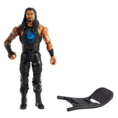 WWE Wrekkin Roman Reigns destroza rivales, muñeco articulado de juguete con silla plegable y accesorios (Mattel GVJ31)